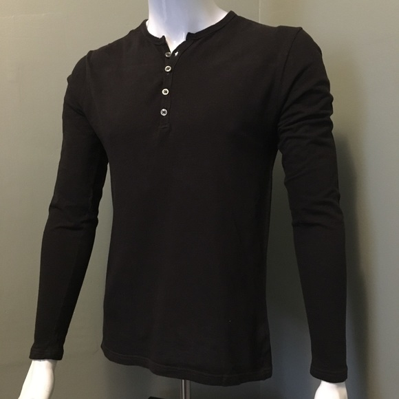 Saks Fifth Avenue Other - Saks Fifth Ave red label L/S henley shirt S brown